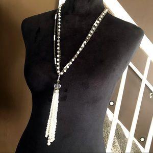 Chico's • 30th Anniversary Pearl Tassel Necklace
